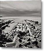 Hartland Beach Triptych Metal Print