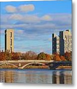 Harvard Towers Over The Charles Metal Print