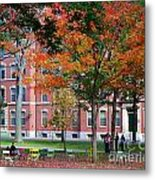 Harvard Yard Fall Colors Metal Print