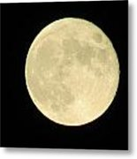 Harvest Full Moon Metal Print by Andrea Dale