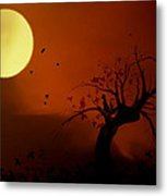 Harvest Moon Metal Print by Hazel Billingsley