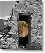 Harvest Moon Through The Magic Door Metal Print