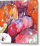 Harvest Pumpkins Metal Print
