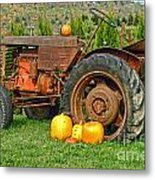 Harvest Tractor Metal Print