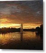 Harveston Lake Sunset Metal Print