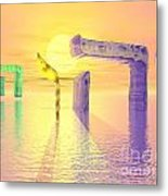 Face Of God Hovering Above The Waters Metal Print