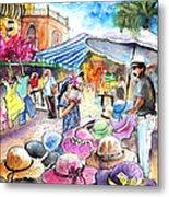 Hat Shopping At Turre Market Metal Print