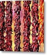 Hatch Red Chili Ristras Metal Print