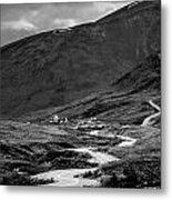 Hatcher's Pass In Black And White Metal Print