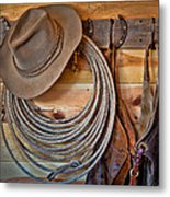 Hats And Chaps Metal Print