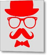 Hats Glasses And Mustache Poster 3 Metal Print by Naxart Studio