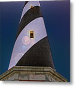 Hatteras Lighthouse At Night Metal Print