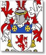 Haugher Coat Of Arms Irish Metal Print