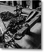 Hauled Anchor Metal Print