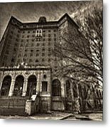 Haunted Baker Hotel Metal Print