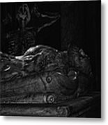 Haunted Crypt Metal Print