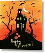 Haunted House Part One Metal Print by Linda Mears