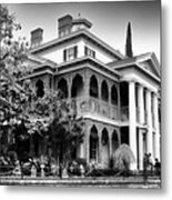 Haunted Mansion New Orleans Disneyland Bw Metal Print