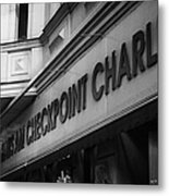 haus am checkpoint charlie museum Berlin Germany Metal Print by Joe Fox