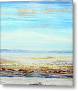 Hauxley Haven Low Tide Rhythms And Driftwood Metal Print