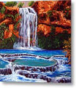 Havasu Falls Cheryln1955@gmail.com Metal Print