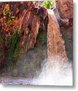 Havasu Falls Study 2 During Flash Flood Metal Print