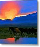 Have A Heart For Wild Horses  Metal Print