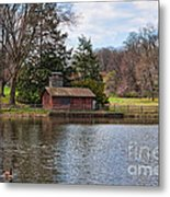 Haverford Skating Cabin Metal Print