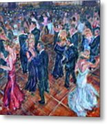 Having A Ball - Dancers Metal Print