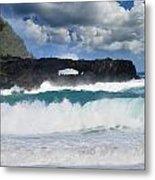 Hawaii Coastline Metal Print
