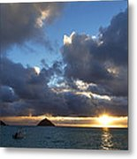 Hawaii Sunrise Metal Print