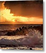Hawaii Sunset V2 Metal Print