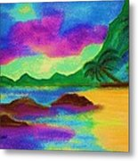 Hawaii Tropical Ocean Vision Metal Print