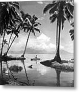 Hawaii Tropical Scene Metal Print