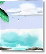 Hawaii Waves Metal Print