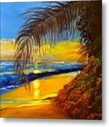 Hawaiian Coastal Sunset Metal Print