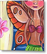 Hawaiian Fairy Metal Print