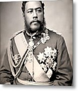 Hawaiian King David Kalakaua 1882 Metal Print