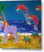 Hawaiian Lei Parade Metal Print