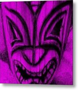 Hawaiian Purple Mask Metal Print