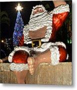 Hawaiian Santa Metal Print