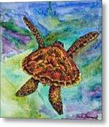 Hawaiian Sea Turtle Metal Print