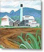 Hawaiian Sugar Mill Metal Print