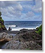 Hawaiian Surf Metal Print