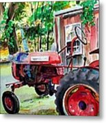 Hawk Hill Apple Tractor Metal Print