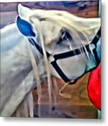 Hay For The White Horse Metal Print