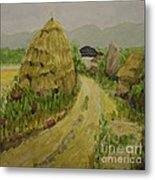 Hay Stack Metal Print by Lilibeth Andre