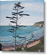 Hay Stack Rock From The South On The Oregon Coast Metal Print