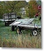 Hay Wagons Metal Print