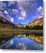 Haystack Mountain Reflected In Beaver Pond Metal Print